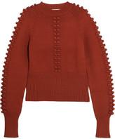 Chloé Pompom-embellished Knitted Sweater