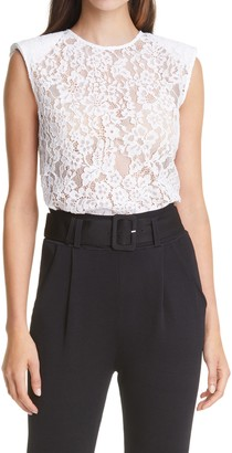Self-Portrait Cord Lace Sleeveless Top