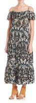 IRO Yonelia Printed Cold-Shoulder Maxi Dress