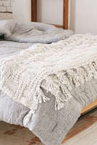 Urban Outfitters Seed Stitch Knit Throw Blanket