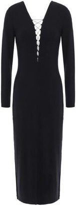 Alexander Wang Lace Stretch Modal-jersey Midi Dress