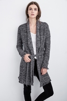 Bowie Tweed Knit Belted Cardigan