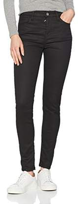 Benetton Women's Raw Denim Jeans Skinny (Black 700), W29/L32 (Size: 29)