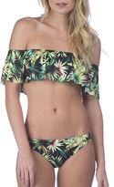 Lucky Brand Coastal Palms Off-the-Shoulder Bandeau Bikini Top