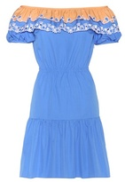 Peter Pilotto Pallas embroidered cotton off-the-shoulder dress