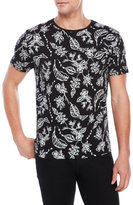 Bellfield Hitchen Floral Print Pocket Tee