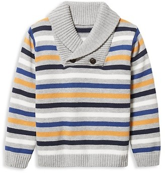 Janie and Jack Baby's, Little Boy's & Boy's Stripe Combed Cotton Sweater