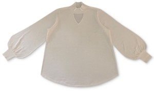 Style&Co. Style & Co Plus Size Bishop-Sleeve Choker Tunic Sweater, Created for Macy's