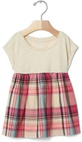 Gap Plaid mix-fabric top