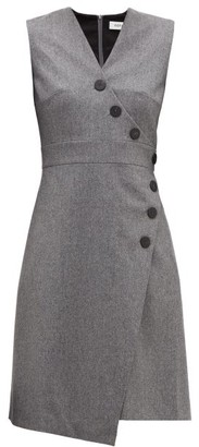 Cefinn - Asymmetric Wool-blend Felt Dress - Womens - Grey