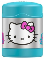 Hello Kitty Genuine Thermos FUNTAINER Stainless Steel Food Jar - Blue (10oz)