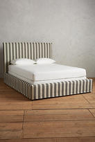 Anthropologie Suren-Striped Carlier Slipcover Bed