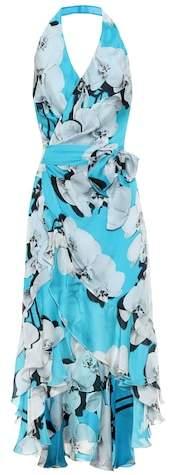 Roberto Cavalli Floral-printed silk midi dress