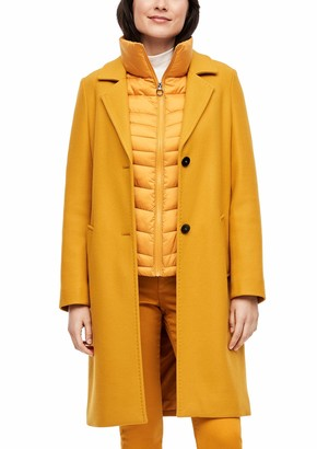 S'Oliver Women's 120.12.009.16.151.2039659 Wool Mix Coat with Piping