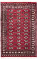 HRI Bokhara Collection Hand-Knotted Wool Accent Rug - 4x6'