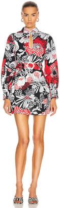 Rixo Michelle Dress in Mono Red Floral | FWRD