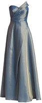 Rene Ruiz Collection Strapless Draped-Bodice Gown