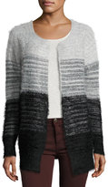 Elliatt Take Flight Fuzzy Cardigan Sweater, Black