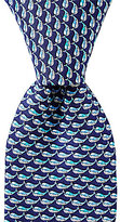 Roundtree & Yorke Whales Traditional Silk Tie