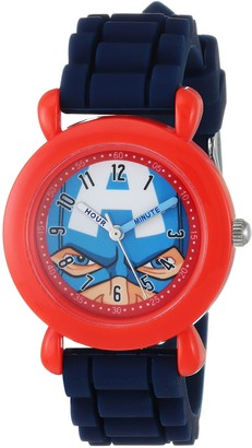 Marvel Boys Avenger Analog-Quartz Watch with Silicone Strap