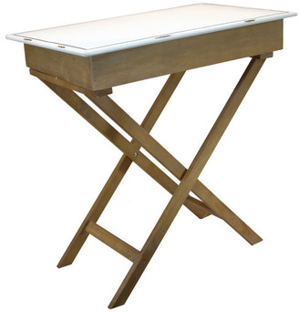 American Mercantile Wood Table With Enamel Top
