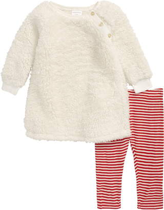 Nordstrom Two-Piece Teddy Bear Dress & Leggings Set