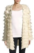 Somedays Lovin Shaggy Knit Open Front Jacket