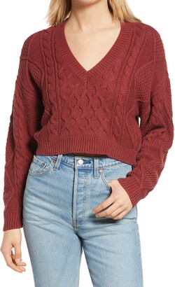 BP V-Neck Cable Knit Sweater