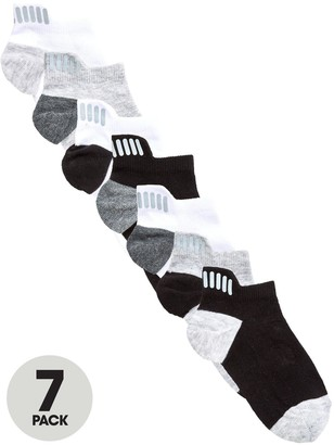 Very 7 Pack Trainer Liner Socks With Reflective Strip Detail - Multi