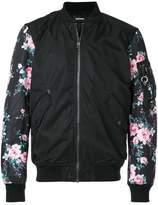 Diesel floral print bomber jacket