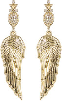 House Of Harlow Embellished Drop Angel Wing Stud Earrings
