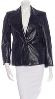 Ann Demeulemeester Wide Lapel Leather Blazer