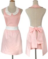 Hot New Stylish Fashion Models Beautiful Home and Work Pink Aprons for Women Girls Cake Vintage Apron Chic Hyzrz