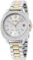 Coach Women's 34mm Two Tone Steel Bracelet Steel Case Quartz -Tone Dial Analog Watch 14502591