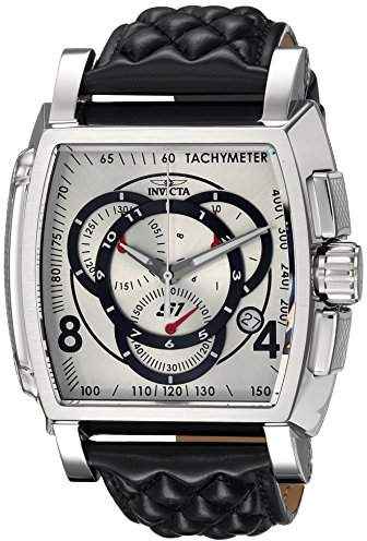 Invicta Men's 'S1 Rally' Quartz Stainless Steel and Leather Casual Watch