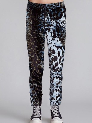 R 13 Harem Leopard Joggers