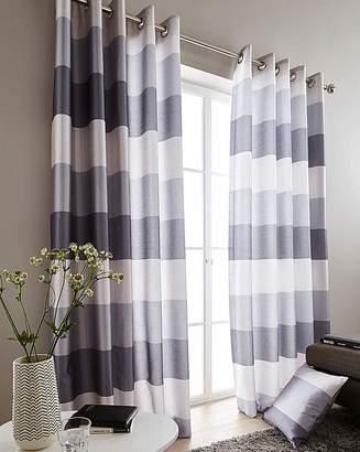 Marisota Printed Faux Silk Stripe Curtains