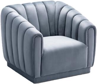 Chic Home Van Gogh Slate Blue Club Chair