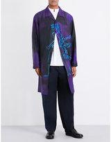 Yohji Yamamoto Graffiti-print Silk Jacket