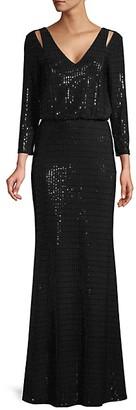 Calvin Klein Sequin Blouson Gown