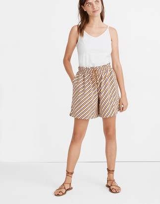 Madewell Second Wave Board Shorts in Diagonal Stripe