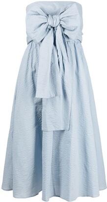 Marysia Swim Strapless Bow-Detail Cotton Midi Dress