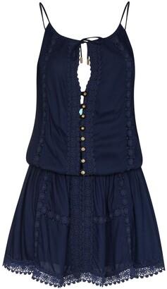 Melissa Odabash Button Placket Mini Dress