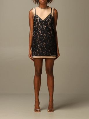 N°21 Mini Dress N deg; 21 In Lace On Taffeta