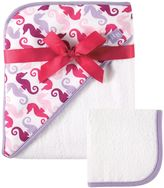 Baby Vision Hudson Baby® Hooded Towel and Washcloth Set in Pink/Purple