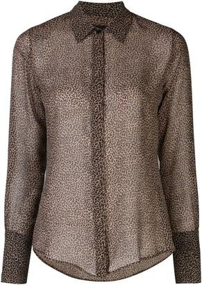 Nili Lotan Lleida micro leopard silk top