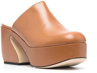 Si Rossi 45mm Sculpted Block-Heel Mules