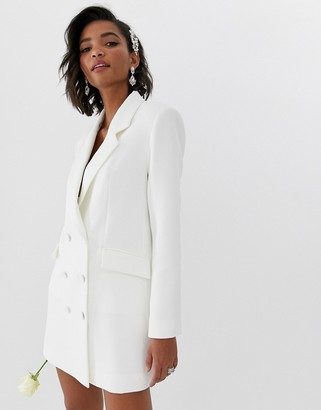 Asos Edition EDITION blazer wedding dress-White