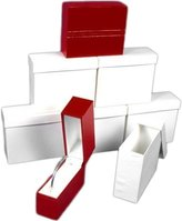 FindingKing 6 Bangle Bracelet Boxes Red Leather Gift Display Box