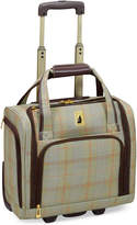 "London Fog Knightsbridge 15"" Under Seat Tote, Available in Brown and Grey Glen Plaid, Macy's Exclusive Colors"